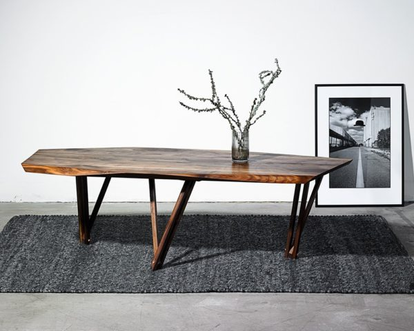 Sofabord Noyer med træben i valnød