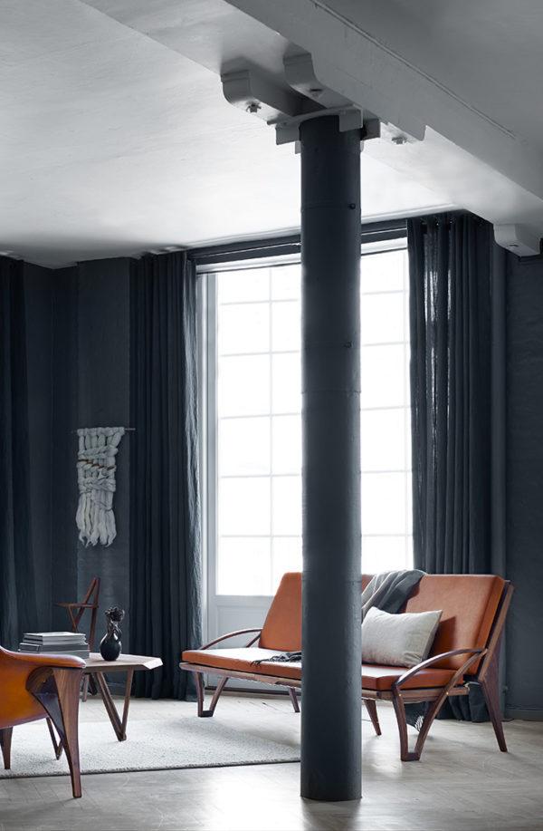 Sofaen i stue miljø